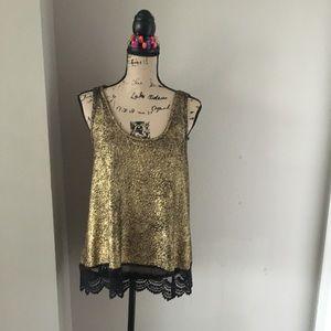 Gold metallic top